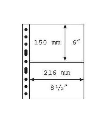 LEUCHTTURM GRANDE 5 hojas negro con 2 departamentos Album billetes - 2