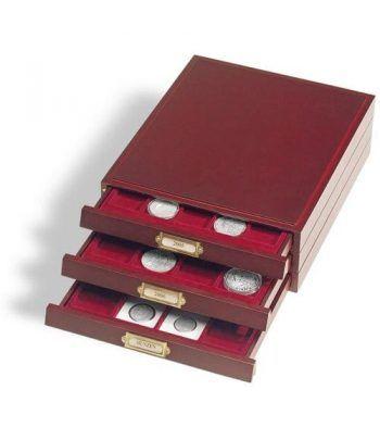 LEUCHTTURM Bandeja madera LIGNUM para 20 monedas hasta 48mm Bandeja Monedas - 2