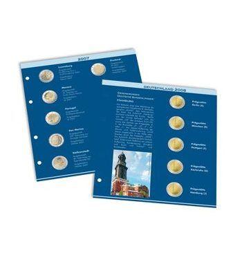 LEUCHTTURM Numis hoja preimpresa monedas de 2 Euros 2009/2010 Album Monedas Euro - 2