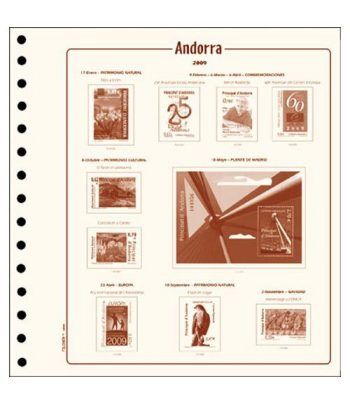 FILOBER Andorra Esp. 1990 (montado con estuches). Hojas FILOBER Cultural - 2
