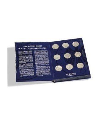 LEUCHTTURM Vista Album monedas Conmemorativas 10 Euros Alemanes.  - 2
