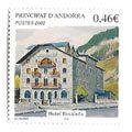 Hojas sellos Andorra Francesa