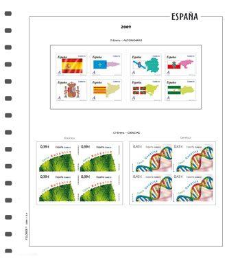 Hojas paras sellos de España en bloque de 4