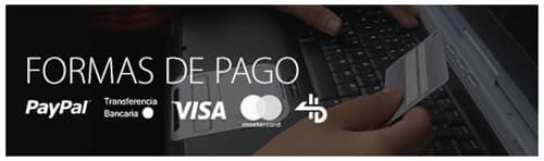 Pago seguro Visa Paypal